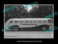 OLD LARGE HISTORIC PHOTO OF THE NORTHERN PACIFIC TRANSPORT Co BUS c1950 1