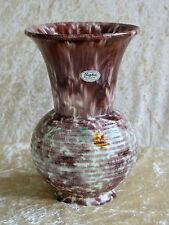 """Jasba"" Vintage Keramik Vase-Bodenmarke ""Germany 203/22"" Laufglasur-Höhe=22,5 cm"