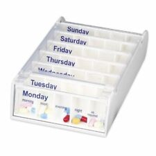 ANABOX 7-day Weekly Pill Organiser / Pillbox in White