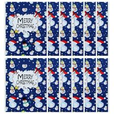 Christmas Gift Bags Santa Snowman Xmas Tree Printed Packaging Drawstring Bag US
