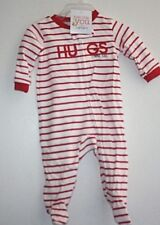 New Carter's One Piece Outfit size NB Newborn Hugs Red PJs  NWT  -ZZX