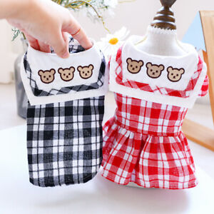 Pet Dog Puppy Cat Dress Clothes Couple Outfit Maltese Poodle Summer Bear Costume