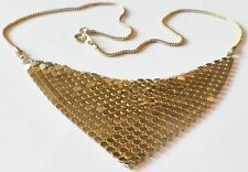 collier bijou vintage chaine top qualité déco maille foulard couleur or * 3643