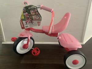 Kids Tricycle Toddler Riding Toy Bike Folding Trike Gift for 2 3 Year Old Girls