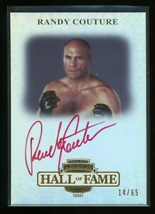 """Randy Couture """"The Natural"""" Auto Signed 2012 Press Pass Legends Card #/65"""