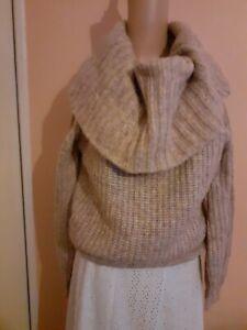 H&M Women's Thick Knit, Soft Feel Roll Neck Jumper, Size XS, BLU377