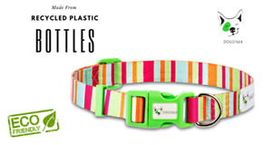"""Doggy Eco Dog Collar """"Soda"""" Made from Recycled Plastic Bottles"""