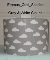 Handmade Lampshade Grey and White Cloud 15 20 30 40 cm Clouds Nursery Baby Child