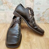 Russell And Bromley Mens Lace Up Shoes Brown Leather EU 46 UK 11.5 Made In Italy