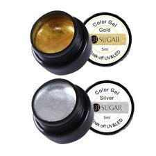 2Pcs 5ml Soak Off Painting UV Gel Polish Gold Silver Nail Art Varnish UR SUGAR