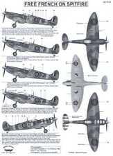 Berna Decals 1/72 SUPERMARINE SPITFIRE Mk.Vb Free French Air Force