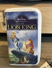 Disney Parks The Lion King Simba Vhs Clamshell Zipper Wallet Clutch Purse Bag