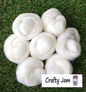 Needle Felting Diamond White Corriedale/Merino. Felting Wool Rovings 45g