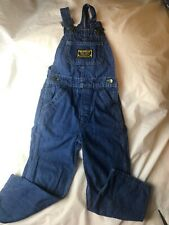 Vtg Washington Dee Cee Sanforized Denim Button Fly Bib Overalls 23x18 Sz 5 Kids
