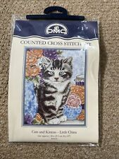 DMC Cats and Kittens Little China Counted Cross Stitch 20cm x 25.5cm 2001 K4182