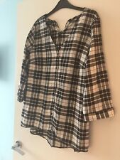 Ladies Black And White Check Shirt BNWT Size 12