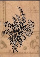 """herbs psx Wood Mounted Rubber Stamp  1 1/2x 2""""  Free Shipping"""