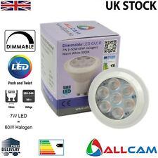 Allcam GU10 7W Bombillas LED regulable brillante blanco frío 6000K, sustituya 60W Halógeno