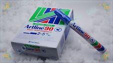 Artline 90 Permanent Marker 12 PIECE / pack BLUE TYPE: CHISEL