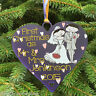 First Christmas as Mr & Mrs Bauble 1st Decoration Personalised Heart Gift Couple