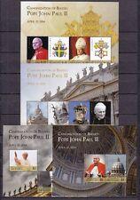 Mikronesien Micronesia 2565-72 (2 KB),Bl. 253-54 ** Heiligsprechnung Papst Paul