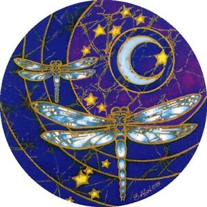 Mandala Art Dragonfly Moon window Sticker 2 sided indoor outdoor canal boat home
