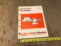 Delco Moraine Hy-Power Brake System Service Manual 1979 17D-19