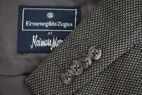 Ermenegildo Zegna Brown Black Hopsack Silk Blend Sport Coat Jacket Sz 40R