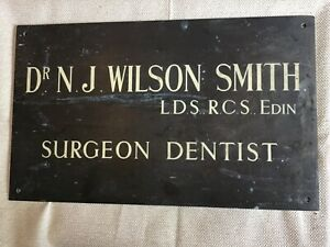 Vintage Bronze Plaque Metal Sign Vintage rare DENTIST the plaque is singed LOOK