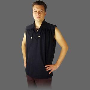 Mittelalterhemd ärmellos - 6 Farben ohne Arm ärmelloses kurzarm Mittelalter Hemd