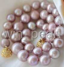 8-9MM Genuine Natural Lavender akoya cultured pearl necklace GP Magnet Clasp