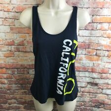 Hollister California Small Casual Tank Top Stretch  Blue Racer Back Spell Out