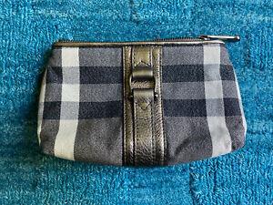 Burberry Mini Pouch/Bag Black/Silver/White Nova Check