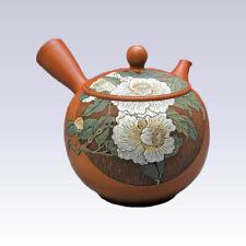 Tokoname Kyusu teapot - KODO -White Camellia - 350cc/ml - Pottery steel net