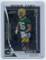 2019 PACKERS Darnell Savage signed ROOKIE card Panini Absolute #158 AUTO RC