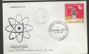Ecuador 1967 FDC Atomos en Accion a