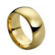 """Tungsten wedding band """" Free Engraving """", Mmtr095 9mm Gold Plated men's ring"""