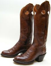 WOMENS VTG SANDERS TALL BUCKAROO BRN LEATHER RIDING COWBOY WESTERN BOOTS SZ 5 A