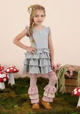 NWT Matilda Jane Outfit WHISKERS Dress/Hidden Cottage Bennys Leggings Size 10