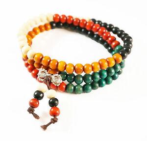 6mm 108 Color Sandalwood Beads Buddhist Prayer Bracelets