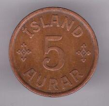 More details for iceland 5 aurer 1931 bronze coin