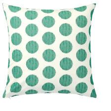 2 x IKEA ASATILDA Cushion cover, natural dark green/dotted 50x50 cm FREE POSTAGE