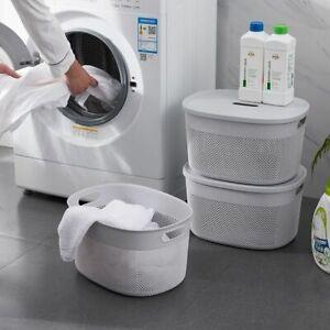 Bathroom Laundry Basket Clothes Storage Clothing Holder Sorter Plastic Organizer