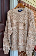 Vintage POLO BY RALPH LAUREN Pullover Sweater. Size XL Made In USA.