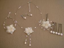 Cream Jewellery Set Wedding Bridal (dress) pearl Necklace Bracelet party