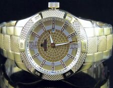 Men's Yellow Gold Finish Genuine Diamond Icetime Supernova Watch 1/4 Ct 44MM