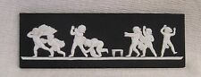 Wedgwood Black Jasperware Unframed Plaque Blind Mans Bluff