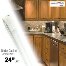 24 Inch LED 550 Lumen Under Cabinet Counter Accent Light Neutral White (4000K)