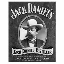 Jack Daniels Whiskey Distiller Portrait Vintage Bar Wall Decor Metal Tin Sign