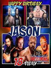Personalised WWE Wrestlemania Birthday Greeting Card & Envelope 465